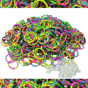 SHIPS FREE FROM USA ~ Loom Refill ORANGE 600 Rubber Bands /& 25 S-Clips