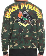 Black Pyramid Molotov Cocktail Arc Logo Sweatshirt Mens XL X-Large Damaged Camo