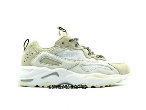 Details about NEW LIMITED EDITION WOMENS FILA RAY TRACER IVORY TAN WHITE LACE UP RUN SNEAKERS
