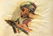 "Hans Waiblinger 1920-2004 Bad Füssing / Aquarell ""Araberviertel Tripolis"" 1941"