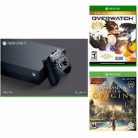 Microsoft Xbox One X 1TB Console (Black) + Overwatch + Assassin's Creed Origins