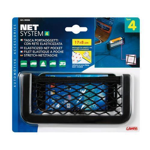 tasca a rete elasticizzata Net-System-4 17x8 cm