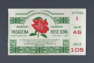 VINTAGE-1941-NCAA-ROSE-BOWL-FOOTBALL-TICKET-STUB-NEBRASKA-vs-STANFORD