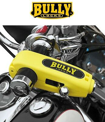 Bully Grip Lock Brake Lever YELLOW Security Anti Theft Handlebar Kawasaki