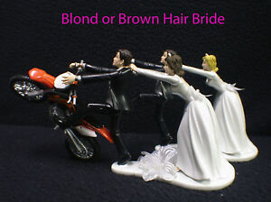 funny motorbike wedding cake topper motorcycle wedding cake topper w ktm duke track dirt 14558