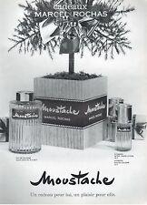 ▬► PUBLICITE ADVERTISING AD Parfum Perfume MARCEL ROCHAS Moustache 1957