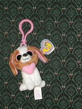 "Ty Boo 3"" Clip * COOKIE Dog *  Heart on chest * Valentine * MWMT *HTF* Retired"