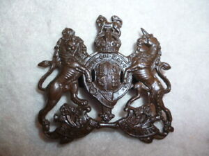 The-General-Service-Corps-Royal-Coat-of-Arms-Officer-039-s-Large-Cap-Badge-Blades