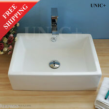 Simple Design Rectangular Porcelain Ceramic Designer Bathroom Vessel Sink BVC011