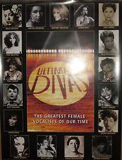 ULTIMATE DIVAS, Arista promotional poster, 1999, EX, Whitney, Aretha, Diana, etc