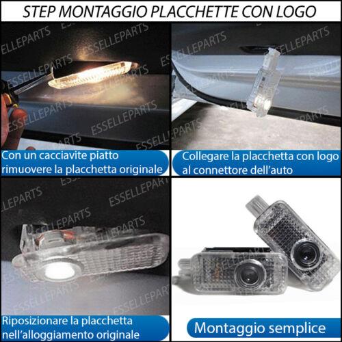 4 PLACCHETTE LED NUOVO LOGO ALFA ROMEO ALFA 159 PORTIERE ANTERIORI E POSTERIORI