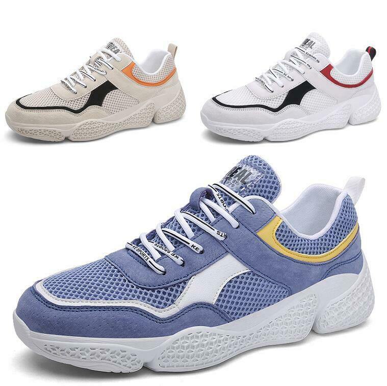 Mens Mesh Breathable Lace up Flats Non-slip Ultra-light Leisure Sneskers zapatos
