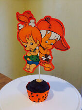Pebbles Flintstone & Bam Bam Rubble Cake Toppers