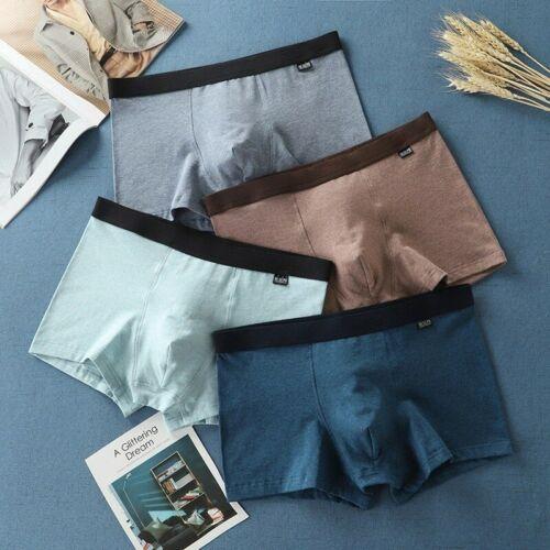 BIERDAN Men Shorts Mens Panties Underwear Pour Homme Cotton Black Underpants