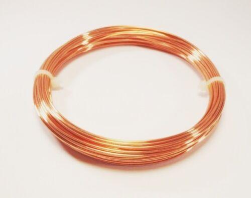 28 Ft Coil  Solid bare Copper 18 Ga Copper Wire  Round  Half Hard  2 Oz