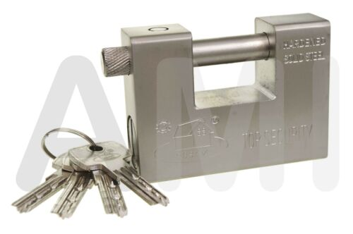 Solid Heavy Duty Shackle Padlocks  90mm Or 94mm Shipping Containers Gates Garage