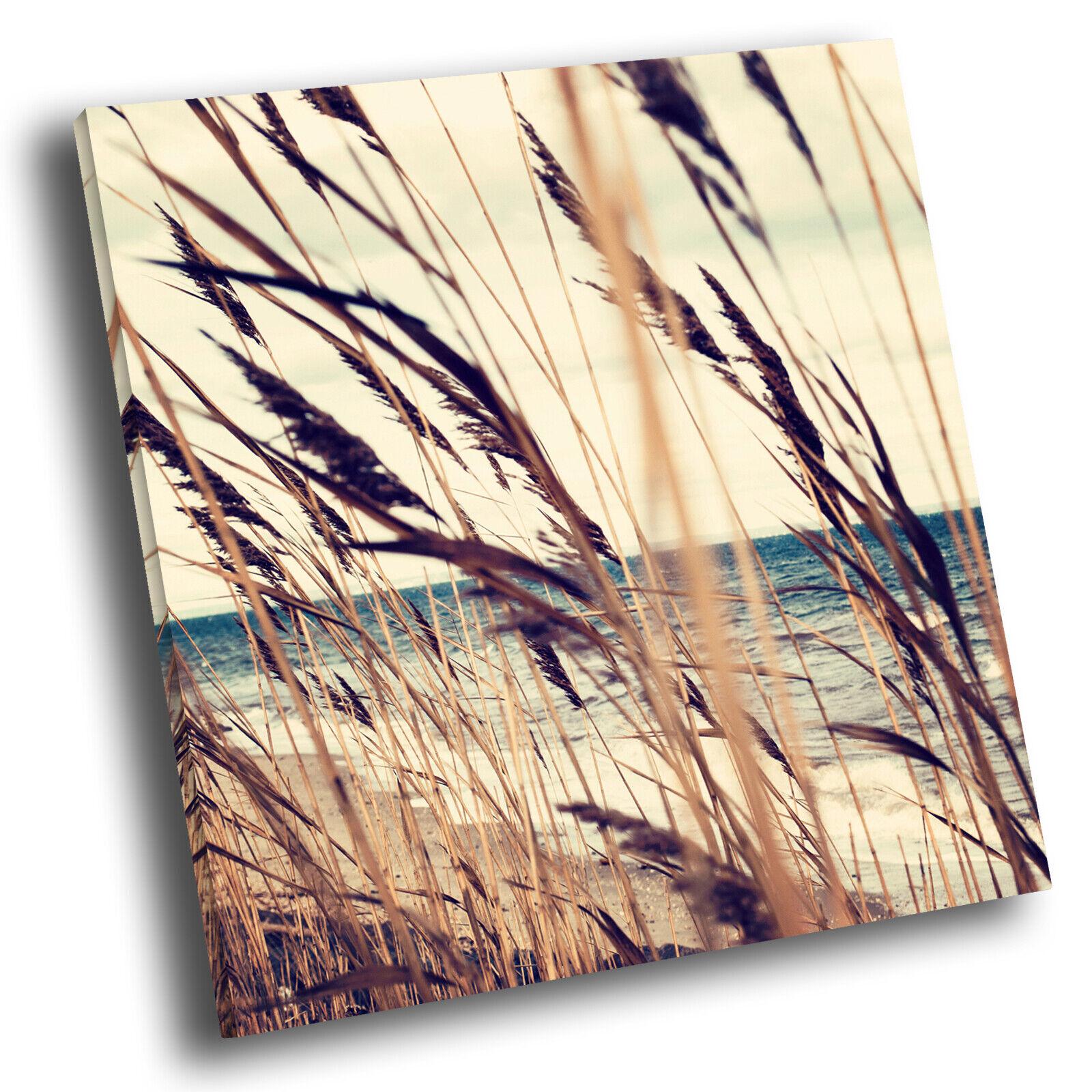 Retro Beach Ocean Nature Square Scenic Canvas Wand Kunst Large Bild Drucken
