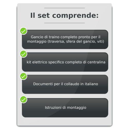 specifico 7p kit elettr Gancio di traino fisso Seat Ibiza 3//5 porte 2008-2015