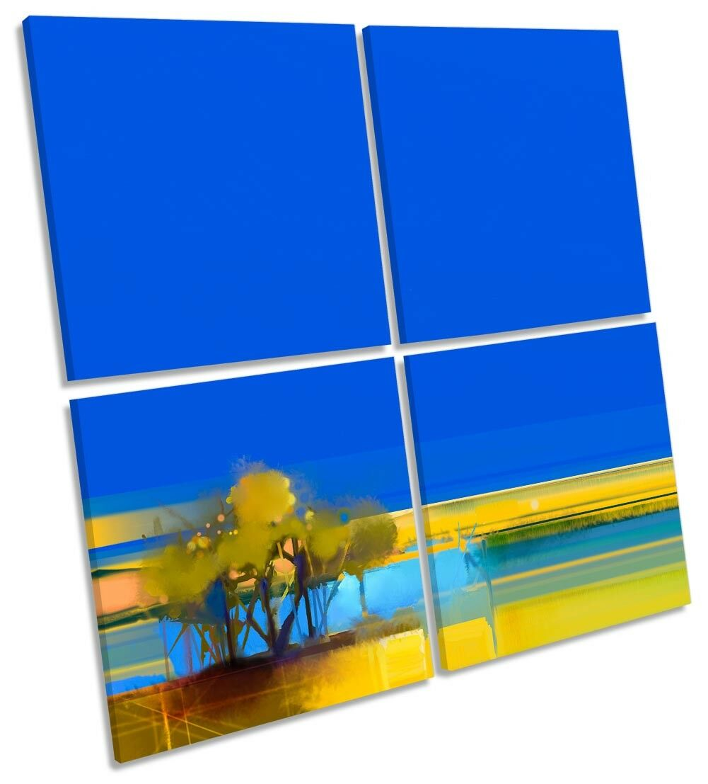 blu panorama astratto giallo Multi a muro opera d'arte art SQUARE