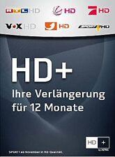 HD+ plus Karte Verlängerung 12 Monate HDTV HD01 HD02 HD03 Code E-Mail Versand