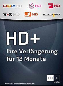 hd plus karte 12 monate HD+ plus Karte Verlängerung 12 Monate HDTV HD01 HD02 HD03 HD04