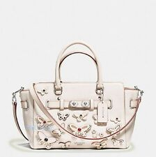 New Coach F59361 Blake Carryall 25 Chalk Pebble Leather Butterfly Applique NWT