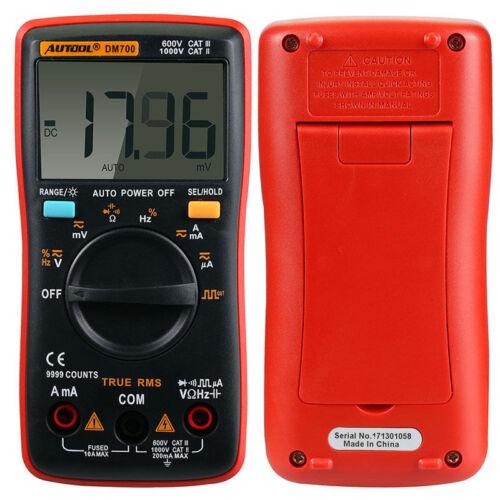 DM700 9999 Counts Auto Pocket Mini Portable Ranging Digital Multimeter Tester