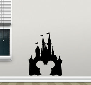 Image Is Loading Disney Castle Mickey Mouse Wall Decal Vinyl Sticker