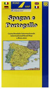 Portogallo Spagna Cartina.Spagna Portogallo Cartina Stradale Scala 1 800 000 Carta Mappa Belletti Ebay