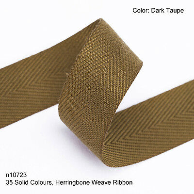 Neotrims 19mm Herringbone Woven Soft Ribbon Insertion Trimming 35 Plain Colours