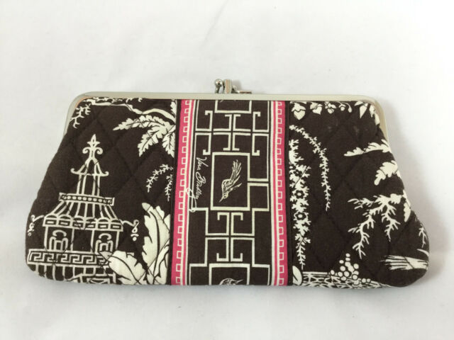 Vera Bradley Kisslock Wallet in Imperial Tiole