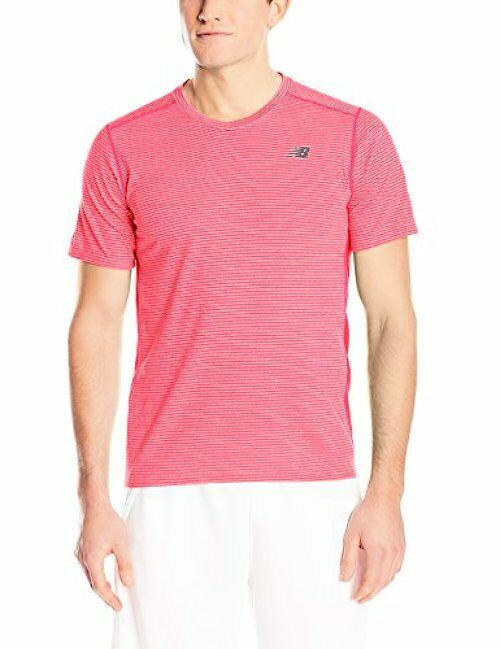 New Balance Clothing MT61033 Mens Striped Sonic Top- Choose SZ color.