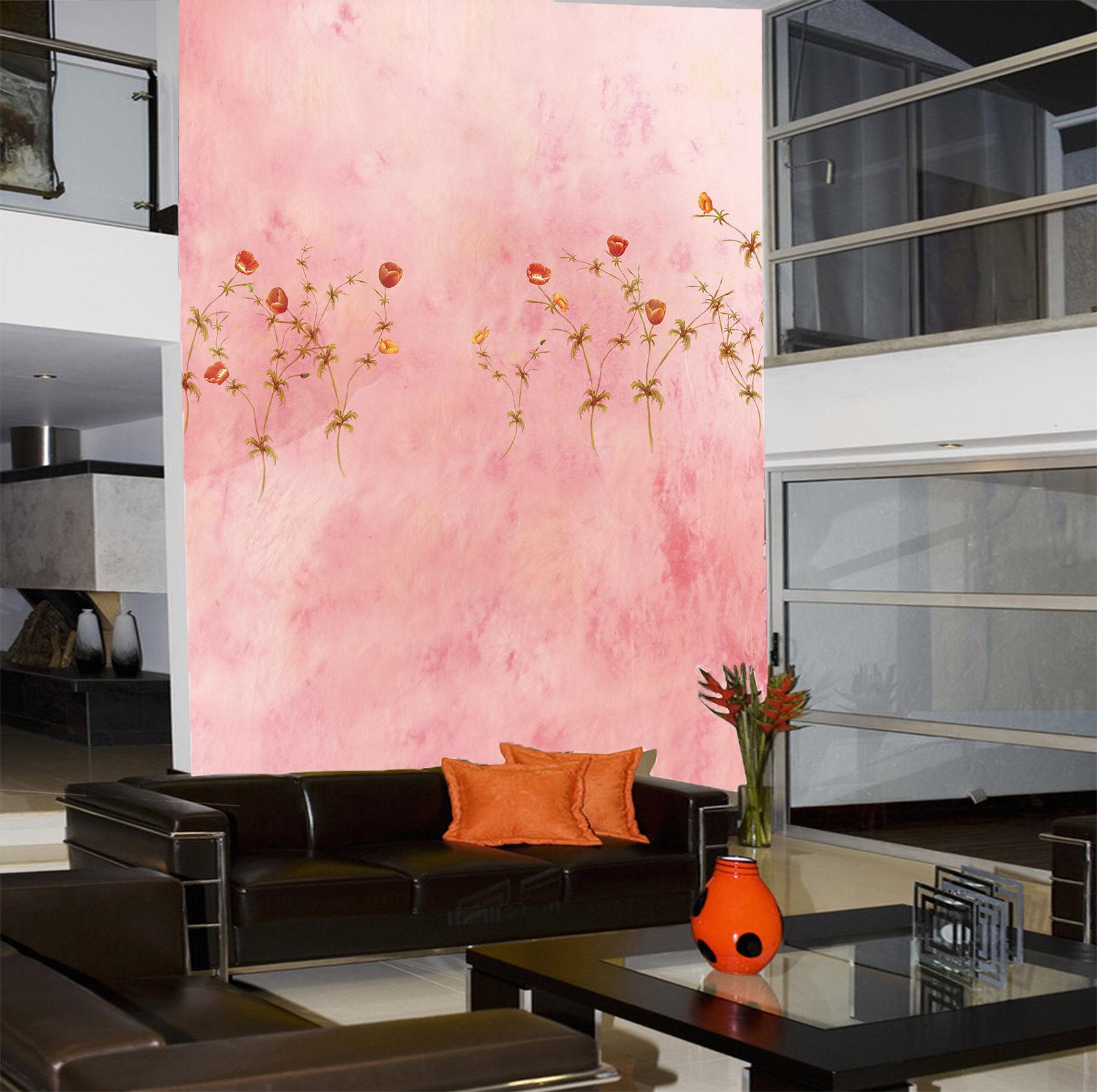 Papel Pintado Mural De Vellón pink De Flores Paredes 3 Paisaje Fondo De Pansize