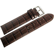 20mm Di-Modell Bali Brown German Made Alligator-Grain Leather Watch Band Strap