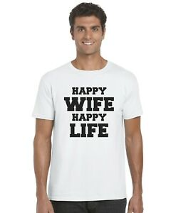 Happy-Wife-Happy-Life-Adults-T-Shirt-Funny-Tee-Top-Sizes-S-XXL