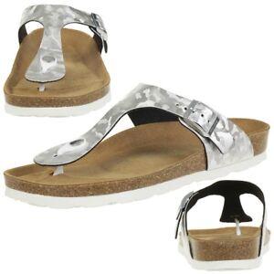 size 40 7f753 8a390 Details zu Rohde Alba Damen Zehentrenner Schuhe 5604 89 silber