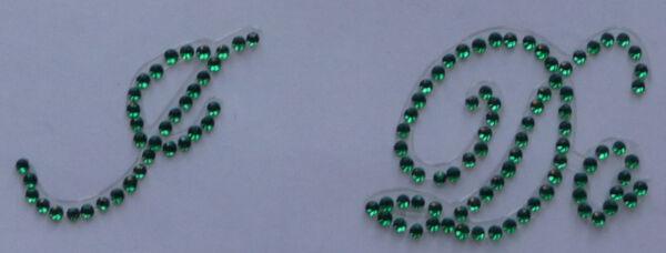 """'' Io"""" Verde Cristallo Diamante"""" Bling"""" Scarpa Applique Adesivo Qualità Eccellente"""