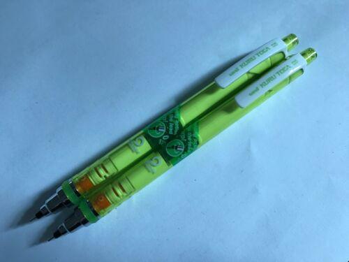 Uni Kuru Toga 0.5mm mechanical pencil M5-450T Pink Barrel x 2 pcs