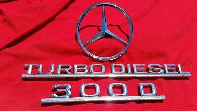 Mercedes NEW w116 w123  Automatic Trunk Emblem Heckdeckel