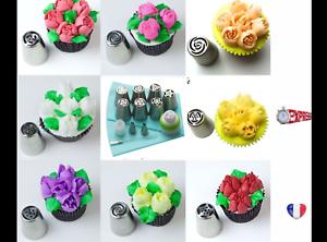 Lot de 11 pièces Douilles Buses Russe Fleur Gâteaux décoration pâtisserie Embout
