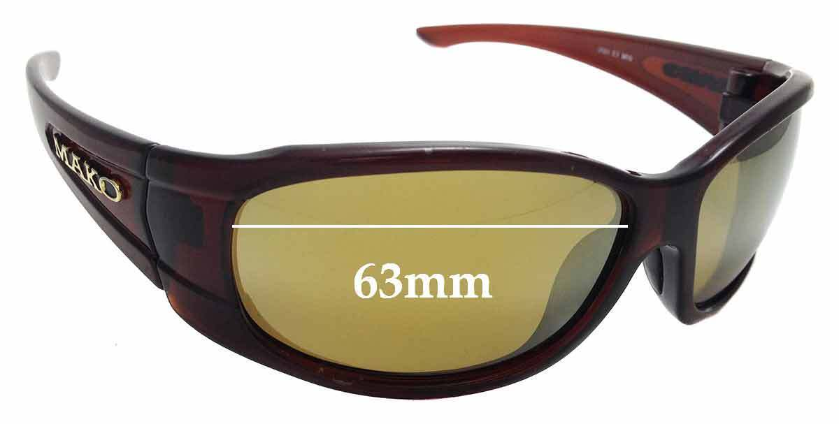 SFX Replacement Sunglass Lenses fits Mako Colossal 9478 64mm Wide
