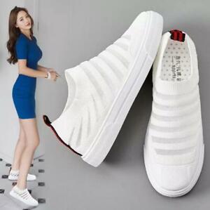 02ec2dc24f Fashion Women's Mesh Walking Lightweight Shoes Slip on Flats ...