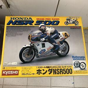 NIB-Vintage-RC-Kyosho-1-8-Rothmans-Honda-NSR500-Motorcycle-3002-Free-Shipping