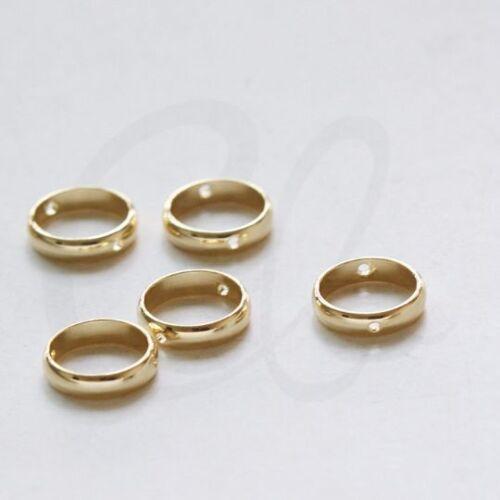 2 Pieces Premium Gold Plated Brass Base Round Frame Round 12mm 3301C-E-650