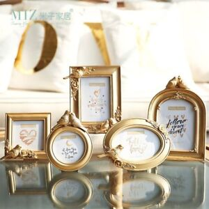 Gold-Photo-Frame-Round-Oval-Square-Shape-Picture-Frame-Elegant-Bird-Royal-Style