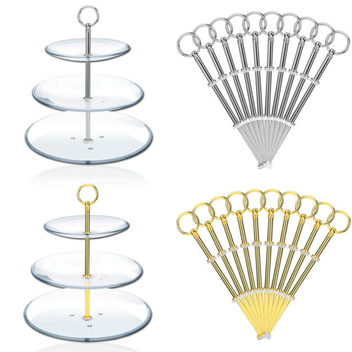 10 2//3 Tier Cake Plate Stand Fittings Stands Rod High Tea Party Wedding Party