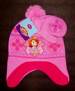 Clothing, Shoes & Accessories Baby & Toddler Clothing Sofía First Princesa Disney Punto Forro Polar Cazador Invierno Hat&mittens Set