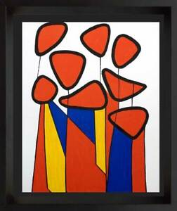 Alexander-CALDER-Original-Lithograph-LIMITED-Edition-1972-w-Custom-Frame