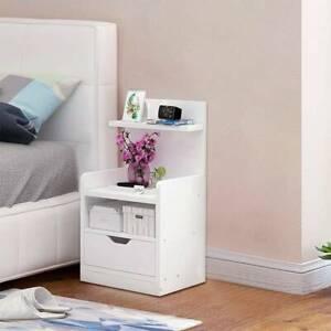 Modern Bedside Table Drawer Cabinet Bedroom Furniture Storage Nightstand UK