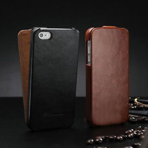 the latest c9228 62dbf Details about Retro Vertical Flip Leather Case Fitted Cover Pouch For Apple  iPhone 4/4S/5/5S